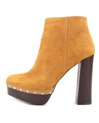 Report - Multicolor Minter Women Round Toe Synthetic Tan Ankle Boot - Lyst