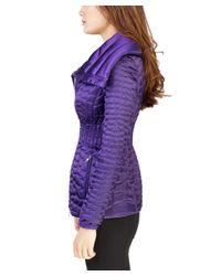 Prada - Women's Nylon Puffer Down Jacket Purple - Lyst