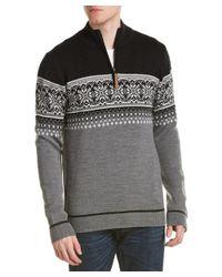 Obermeyer | Gray Bryce 1/4-zip Wool Sweater for Men | Lyst
