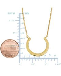 """JewelryAffairs - 14k Yellow Gold Half Circle Pendant On 17"""" To 18"""" Adjustable Necklace - Lyst"""