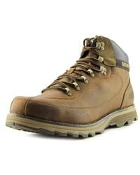 Caterpillar - Highbury Men Round Toe Leather Brown Boot for Men - Lyst