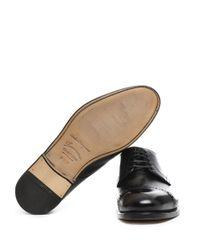 Ferragamo - Men's Black Leather Lace-up Shoes for Men - Lyst