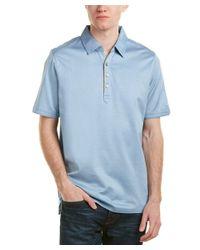 Raffi - Blue Self Collar Polo for Men - Lyst