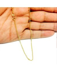 JewelryAffairs - Metallic 14k Yellow Gold Round Rolo Link Chain Necklace, 1.85mm, 16 Inch - Lyst