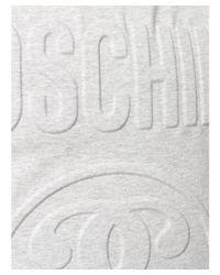Moschino - Gray Men's Grey Cotton T-shirt for Men - Lyst