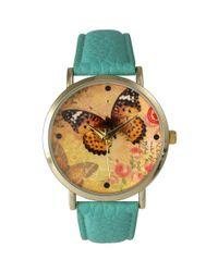 Olivia Pratt - Metallic Butterflies And Roses Watch - Lyst