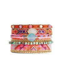 Hipanema | Red Summer Crystal Bracelet | Lyst