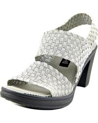 Steven by Steve Madden - Metallic Womens Eathan Open Toe Casual Strappy Sandals - Lyst