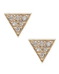 Adornia - 14k Yellow Gold And Diamond Waverly Stud Earrings - Lyst