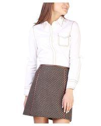 Prada - Women's Cotton Blouse Shirt White - Lyst