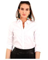 The Shirt by Rochelle Behrens - White The 3/4 Sleeve Essentials Icon Shirt - Lyst