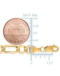 JewelryAffairs - 10k Yellow Gold Hollow Figaro Bracelet Chain, 6.5mm, 8.5 for Men - Lyst