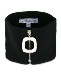 J.W. Anderson - Women's Black Wool Scarf - Lyst