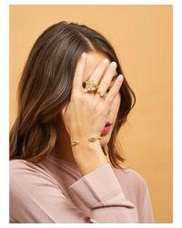 Les Nereides - Metallic Atlantide Crab's Pincers And Pearl Semi-rigid Bracelet - Lyst