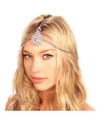 Kristin Perry - White Crusted Medallion Chain Headpiece - Lyst