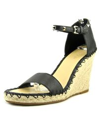 07a738225e3 Lyst - Marc Fisher Womens Kicker Leather Open Toe Casual Espadrille ...