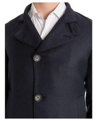 Tagliatore - Men's Blue Wool Coat for Men - Lyst