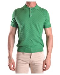 Zanone - Men's Mcbi373002o Green Cotton Polo Shirt for Men - Lyst