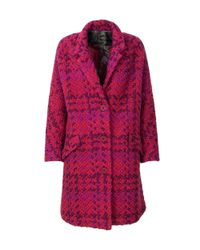 Desigual - Women's Red Polyester Coat - Lyst