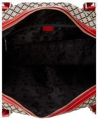 Gucci - Natural Beige Canvas Diamante Boston Bag - Lyst