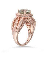 Suzy Levian - Sterling Silver 4.53 Tcw Green Amethyst Ring - Lyst