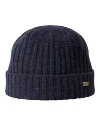 Kangol - Blue Unisex Lambswool Fully Fashioned Pull-on Beanie for Men - Lyst
