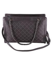 Trussardi - Women's Black Polyurethane Handbag - Lyst