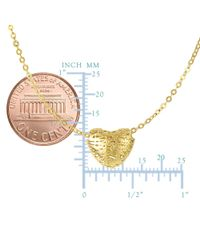 JewelryAffairs - 14k Yellow Gold Textured Puffed Heart Pendant Necklace, 17 - Lyst