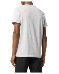 Moschino - Gray Men's Grey Cotton T-shirt for Men - Lyst