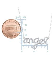 JewelryAffairs - White Angel Logo And Cz Necklace In Sterling Silver, 18 - Lyst