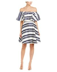 Belle By Badgley Mischka - Blue A-line Dress - Lyst