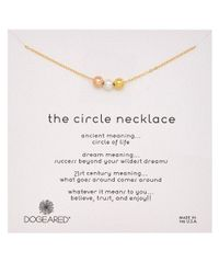 Dogeared - Metallic Circle Bright Necklace - Lyst