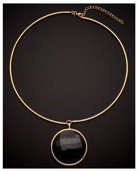Argento Vivo - Metallic 18k Over Silver Black Onyx Collar Necklace - Lyst