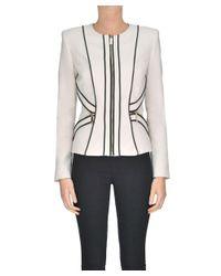 Elisabetta Franchi - Brown Women's Beige Viscose Jacket - Lyst
