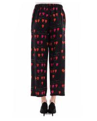 Alexander McQueen - Women's Black Silk Pants - Lyst