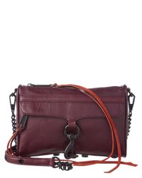 Rebecca Minkoff - Red Mini Mac Leather Crossbody - Lyst
