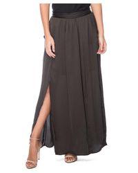 Bobeau - Gray Rosemary Maxi Skirt - Lyst