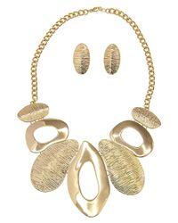 Gottex - Metallic 18k Plated Ramona Necklace & Drop Earrings Set - Lyst
