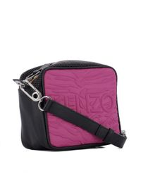 KENZO - Women's Pink Fabric Shoulder Bag - Lyst