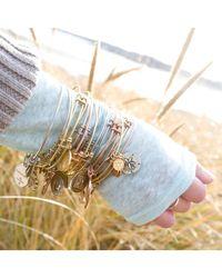 Angelica - White Stipple Finish Brass Niece Bangle Bracelet, 7.25 - Lyst