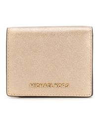 abe89c55e425 Lyst - Michael Michael Kors Women s Silver pink Leather Wallet in ...