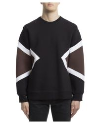 Neil Barrett - Men's Bjs334vb527c1613 Brown/black Cotton Sweatshirt for Men - Lyst