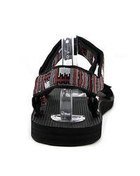 Teva - Original Universal Men Open-toe Canvas Black Sport Sandal - Lyst