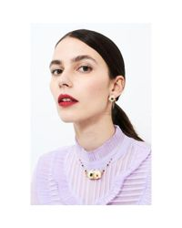 Les Nereides - White Exoplanet Double Shell And Branch Of Corals Necklace - Lyst