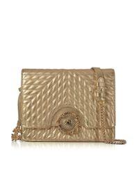 Roberto Cavalli - Metallic Women's Gold Leather Shoulder Bag - Lyst