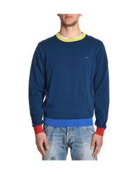Sun 68 - Men's Blue Cotton Sweater for Men - Lyst