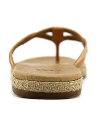Ugg - Brown Annice Open Toe Leather Thong Sandal - Lyst