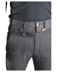 John Galliano - Gray Men's Mcbi130008o Grey Linen Pants for Men - Lyst