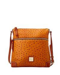 Dooney & Bourke - Pink Ostrich Crossbody Shoulder Bag - Lyst
