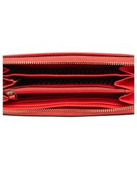 Kate Spade - Red Cameron Street Lacey Leather Wallet - Lyst